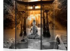 Paraván - Buddha Smile (Orange) II [Room Dividers]